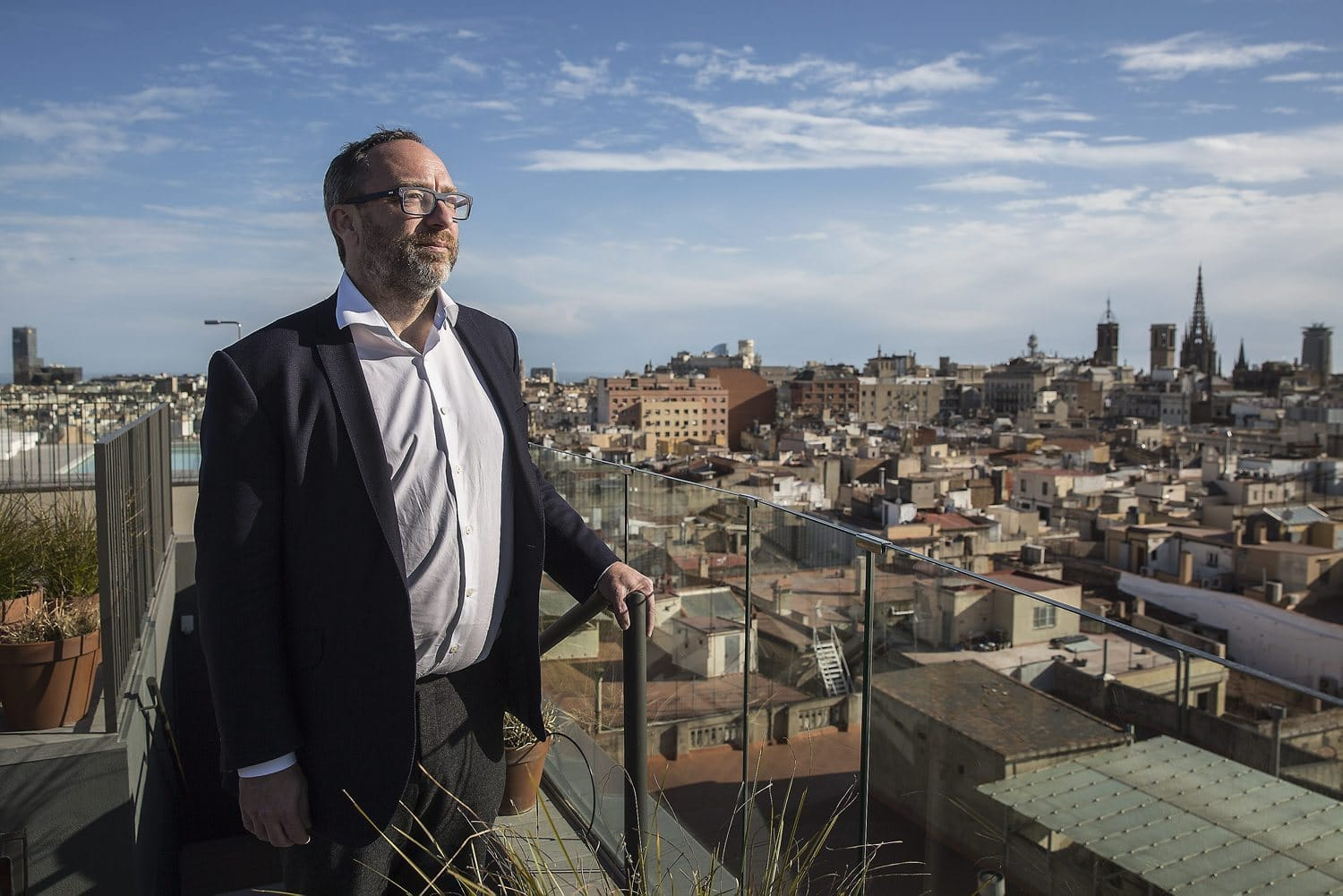 Jimmy Wales in Barcelona,. Photo: ARA/ Pere Virgili
