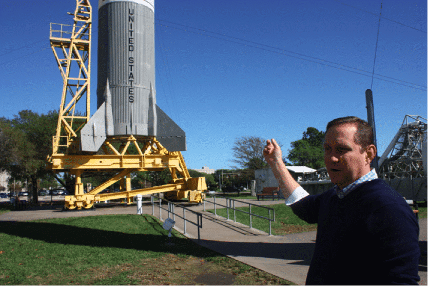 A special rocket used just to test the Apollo abort system