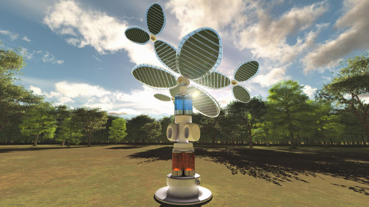 Solar Fuels Institute's 'Solar tree' creates liquid fuel