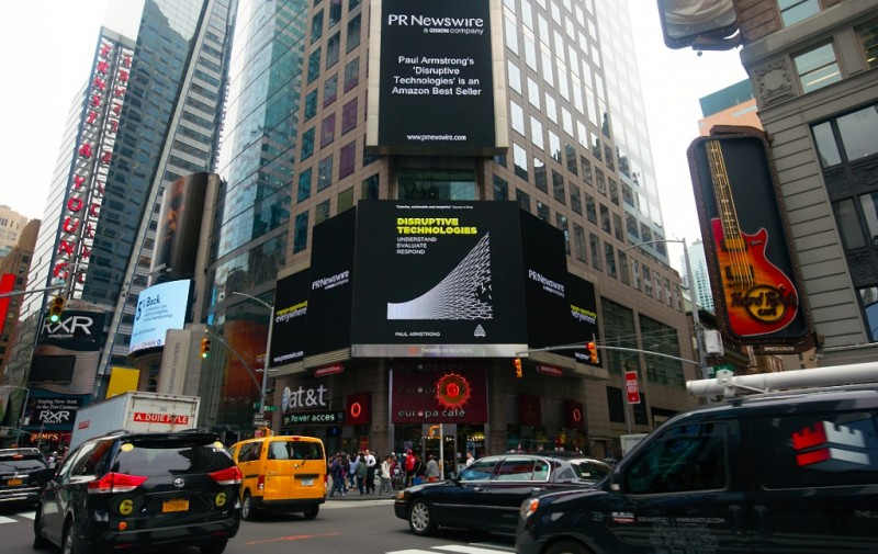 Paul's best-seller disrupts Times Square, New York