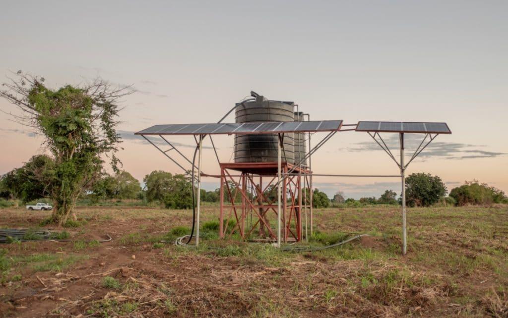 Sistema de riego solar de Azada Verde