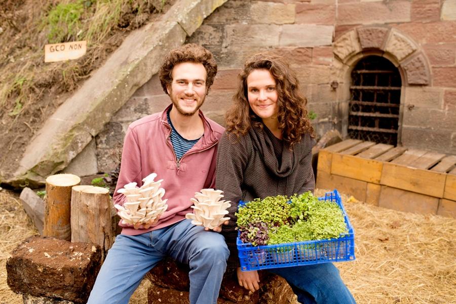 Cycloponics grow mushrooms underground in Paris
