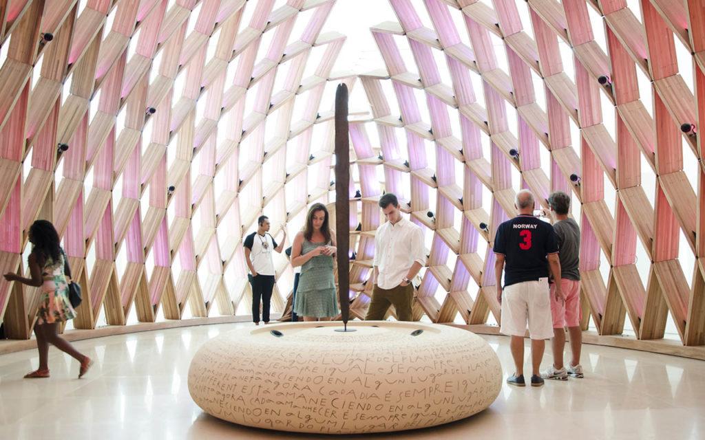 Inside the Museu do Amanhã