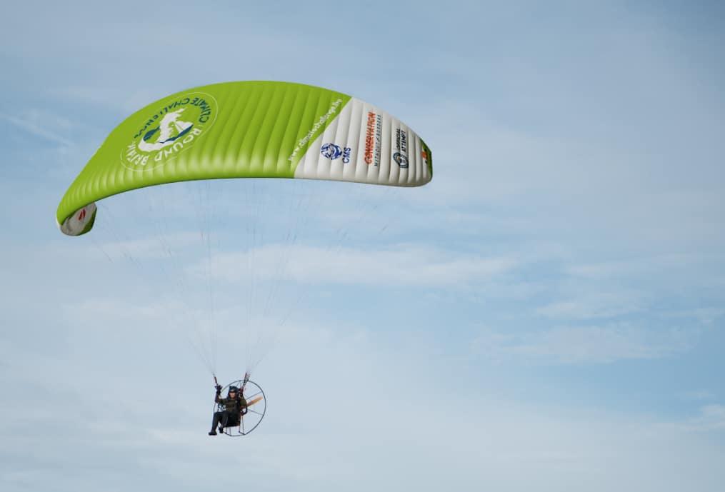 Sacha Dench flying