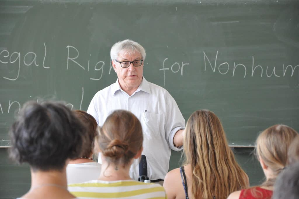 Nonhuman Rights Project President Steven M. Wise teaching