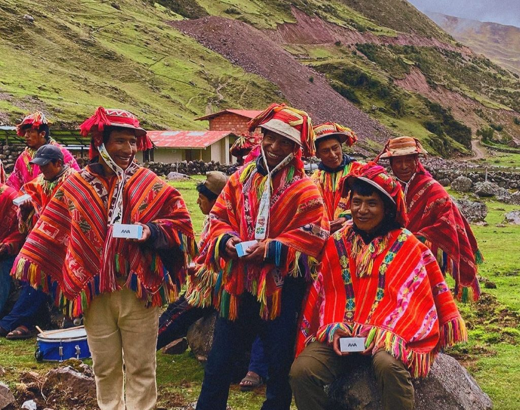 Andean community shows AWA soap bars