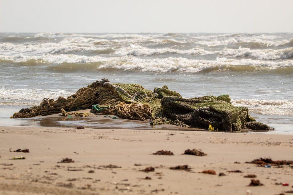 Fishing net on beach