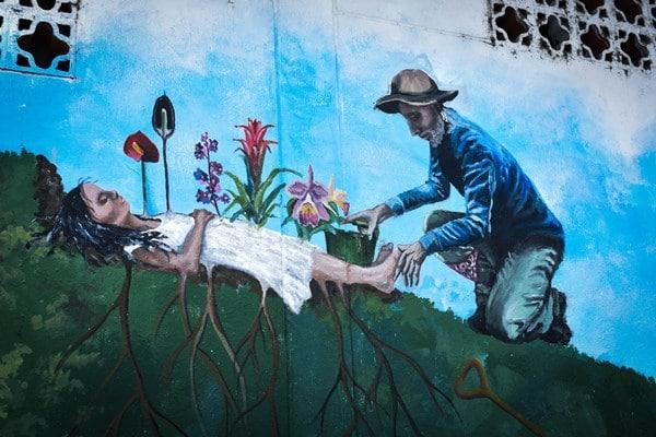 A graffiti in Medellín - Agroarte Colombia