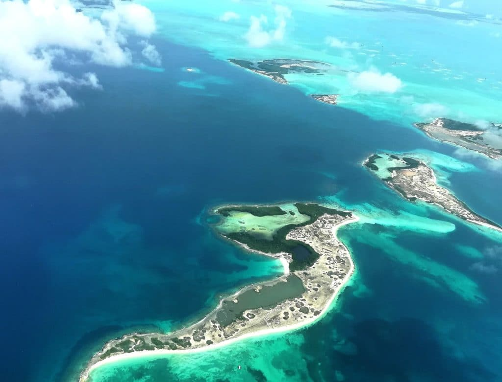 View of Los Roques from above